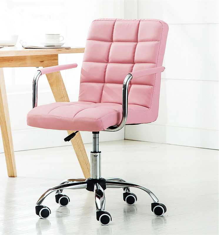 promo code e7d06 c3fdb Full Leather Design Stylish Office Chair / Study Chair - Pink